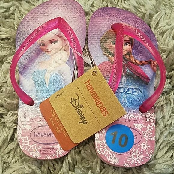 09177235347c2a Havaianas Disney Frozen NWT Size 10